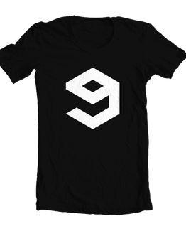 9gag logo - hitam