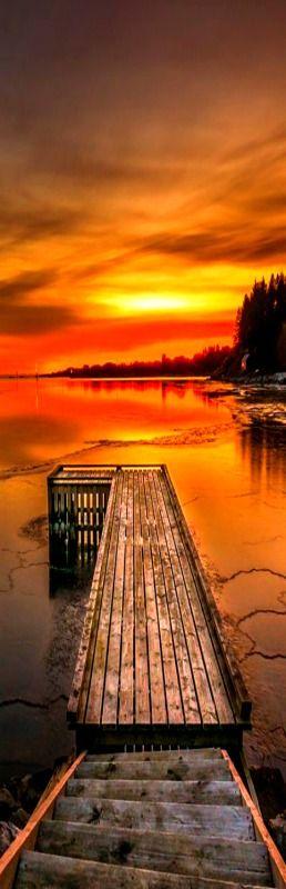 Sunset at Hellvik in Eigersund, Norway