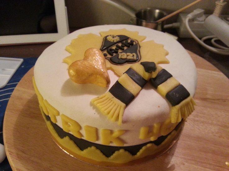 Skellefteå AIK cake for my brother-in-laws 40 birthday
