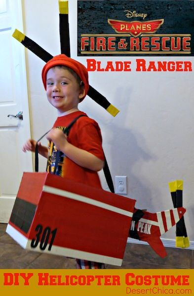 DIY Helicopter Costume: Blade Ranger from Disney Planes Fire & Rescue - SO cute!