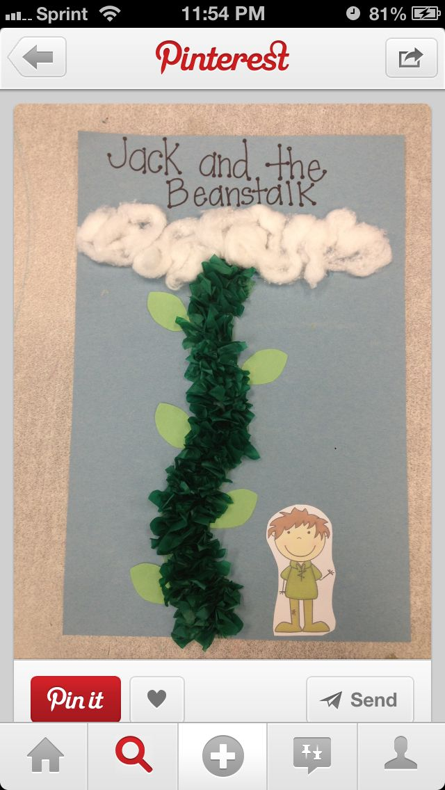 Jack and The Bean Stalk art idea for kids