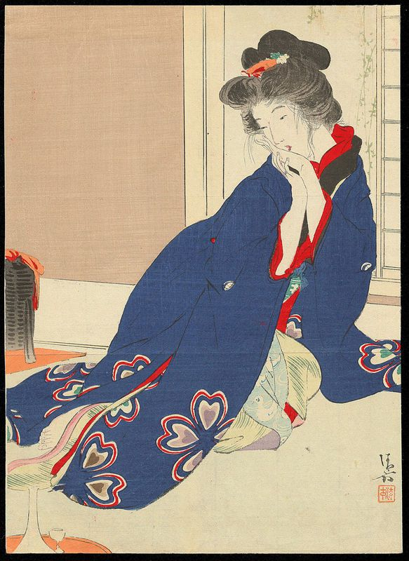 Kiyokata, Kaburagi (1886-1972) - Scarlet Peach - 緋桃