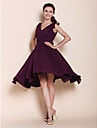 A-line Princess V-neck Knee-length Chiffon Bridesmaid Dress - EUR € 82.49