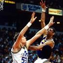 Kareem Abdul-Jabbar passes Wilt Chamberlain to become the NBA's all time leading scorer.  Lakers coach Pat Riley wanted to sit his legendary center so he could break Wilt Chamberlain's NBA's career scoring mark (31,419) in Los Angeles, but Abdul-Jabbar insisted on playing against the Utah Jazz in La...Kareem Abdul-Jabbar passes Wilt Chamberlain to become the NBA's all time leading scorer.  Lakers coach Pat Riley wanted to sit his legendary center so he could break Wilt Chamberlain's NBA's…