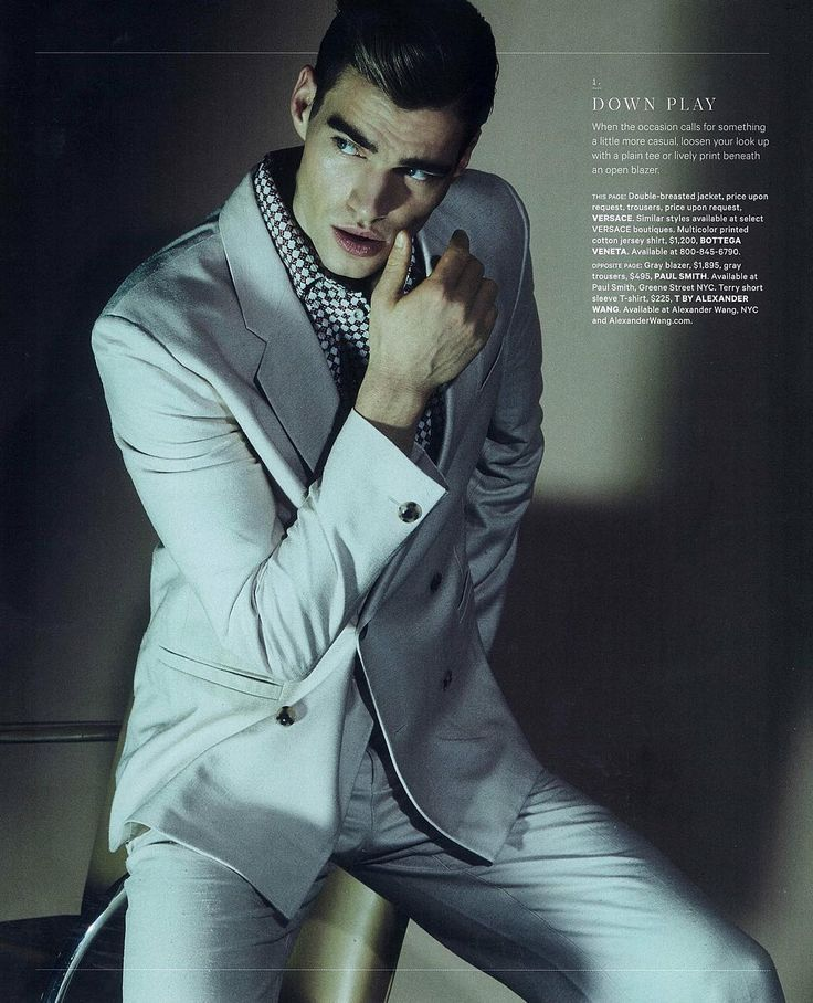 Essential Homme - March '16. Versace suit.