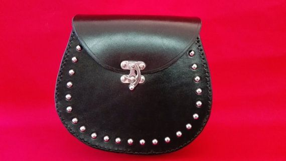 Sporran holster leather sporran leather holster. by Studio45RHM