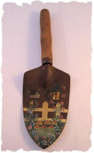Image detail for -Hand Painted Garden Hand Spade Shovel Birdhouses NICE | eBay