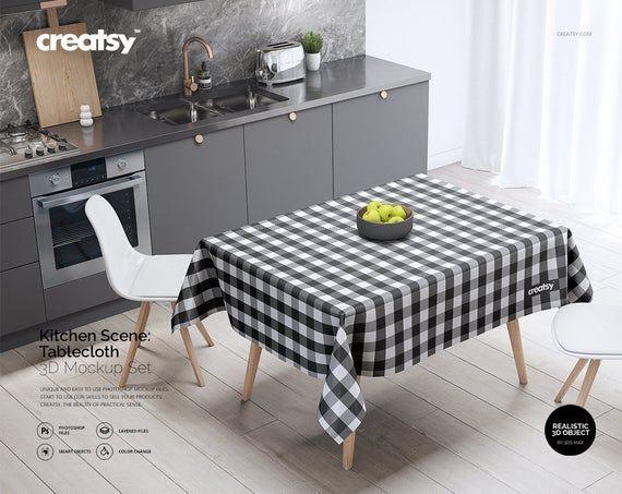 Tablecloth mockup free download