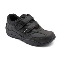 Reflector, Black Leather Boys Riptape School Shoes http://www.startriteshoes.com/school-shoes/