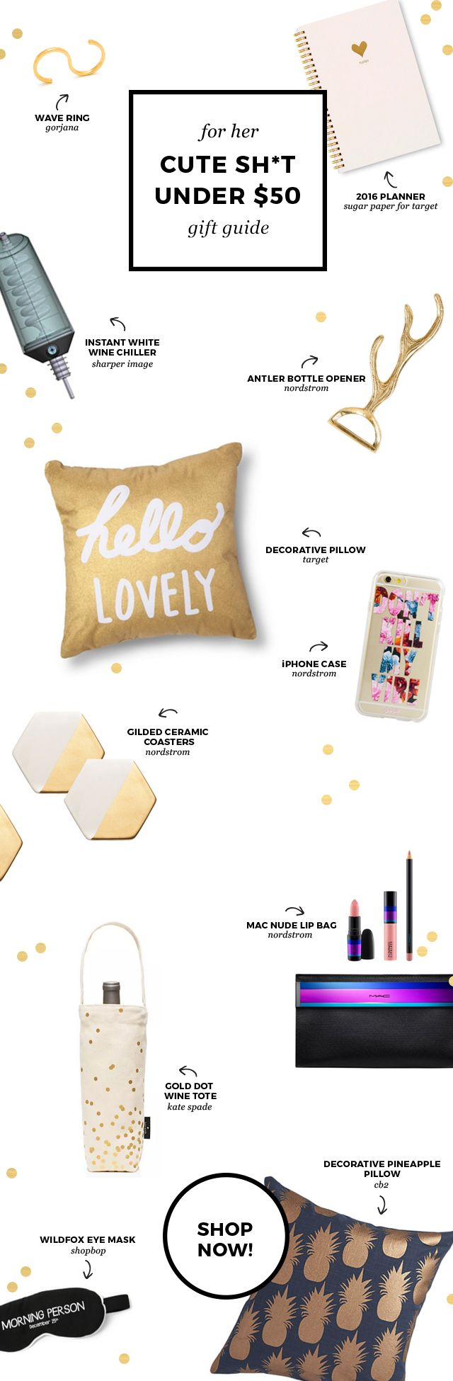 Gift Guide: cute, budget friendly items for her