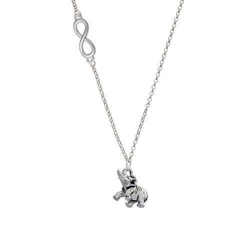 Elephant Silver Plated Delicate Link Necklace National Elephant Appreciation Day is celebrated every year on September 22 which originated in 1996. People of all ages are fascinated by elephants.  They are larger than life and highly intelligent animals.  The average life span of an elephant is 60 to 70 years and they are develop remarkably close family bonds. #memoryofanelephant #smartasanelephant