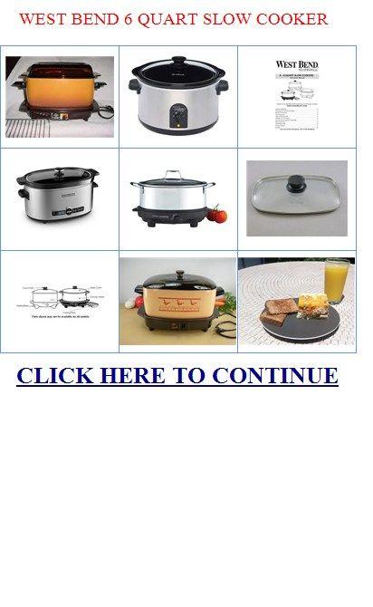 west bend 6 quart slow cooker