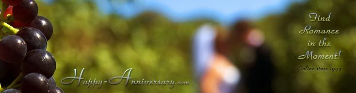 Wedding Anniversary gift ideas for each year. Traditional and modern versions.