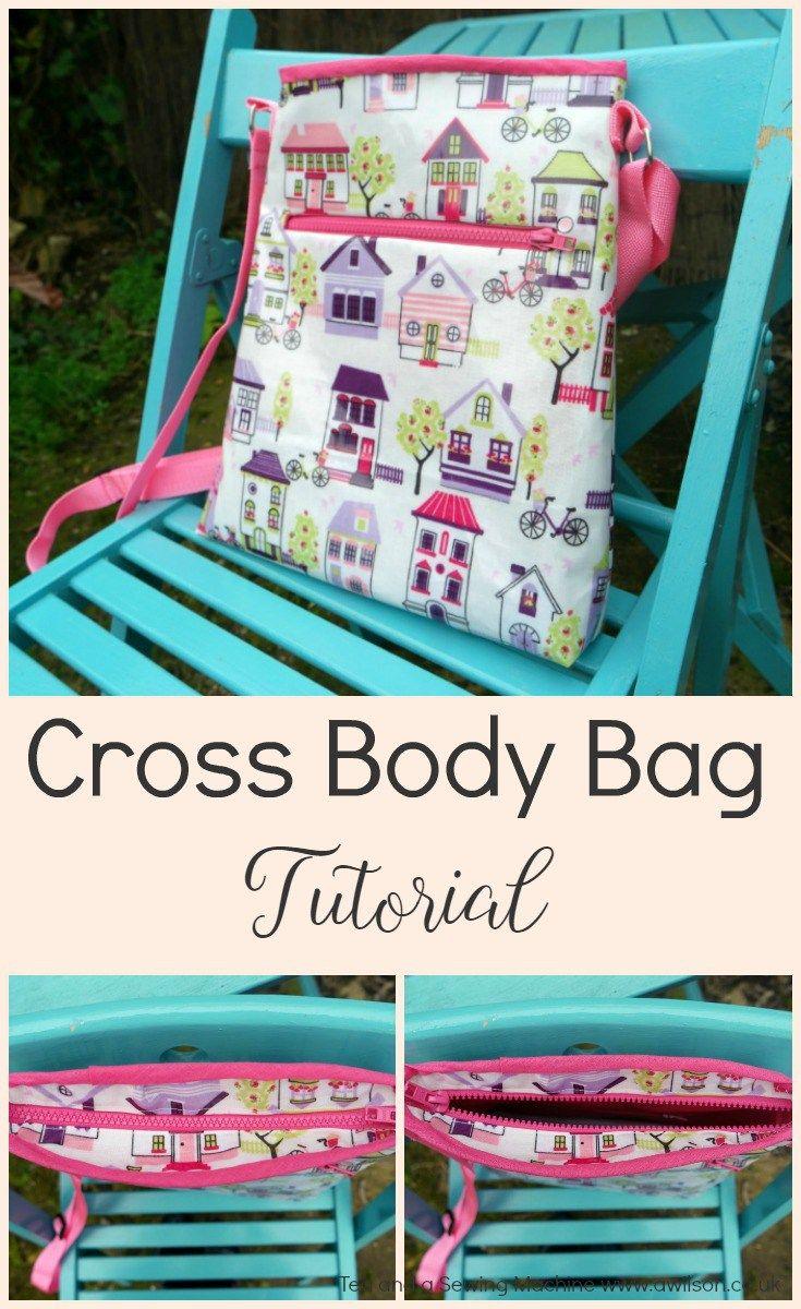 how to make a cross body bag tutorial
