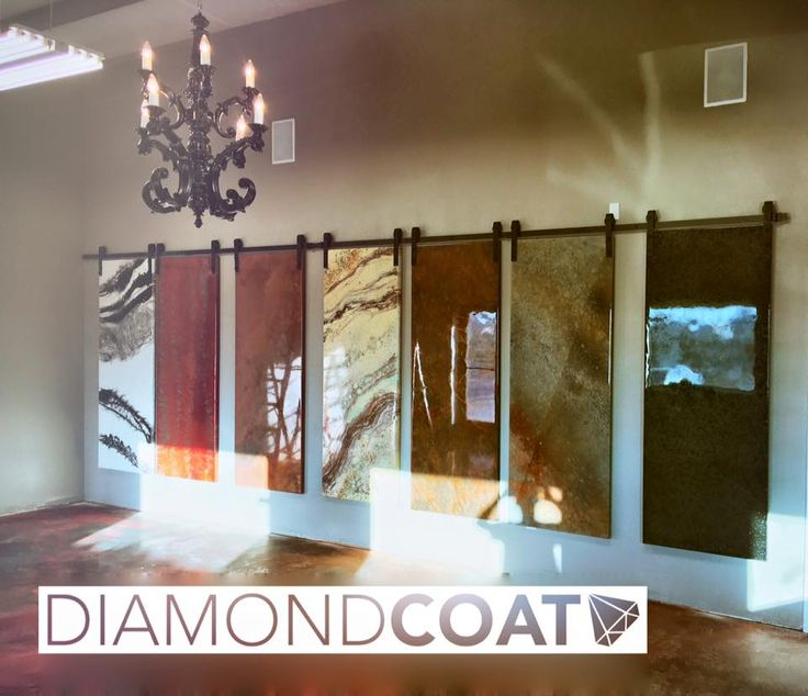 Gorgeous Diamond Coat Showroom With Epoxy Samples Epoxy