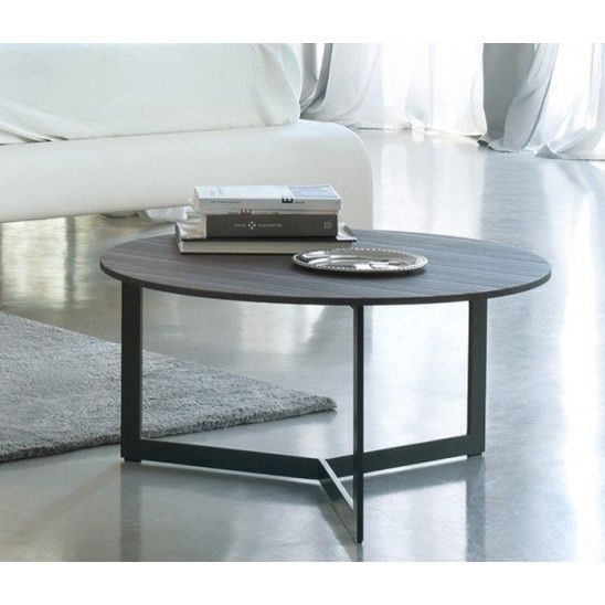 Sign is a round metal #bedside or #coffeetable, with #wooden top. #Design by #StudioKairos for #Lema