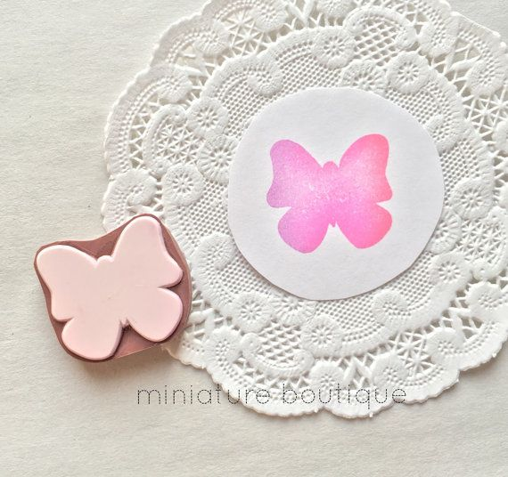 Butterfly hand carved rubber stamp eraser by miniatureboutique