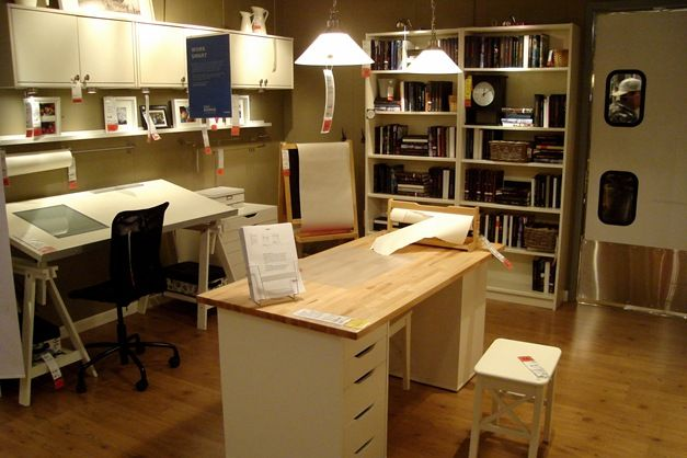 ikea craft desk...i shall need this in my awesome art studio!!