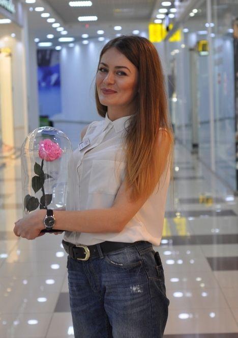 Роза в колбе Пятигорск - In Bloom - бутик стабилизированных цветов