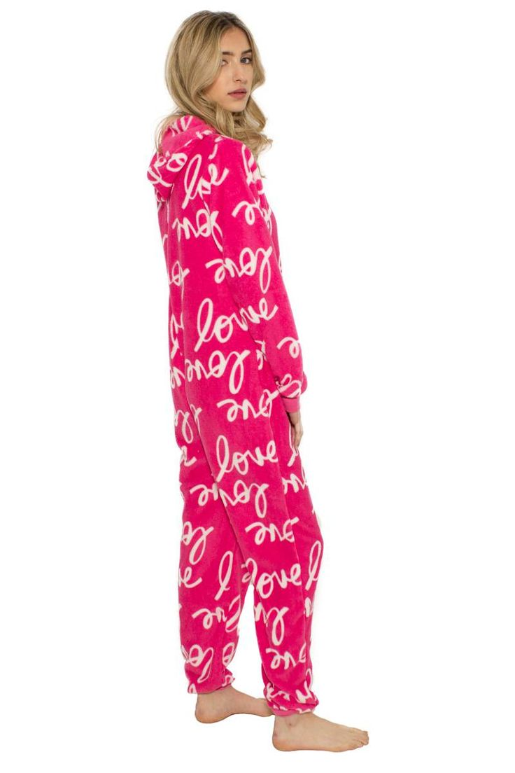 Let her cozy up with these 'love' printed onesie. So cute!