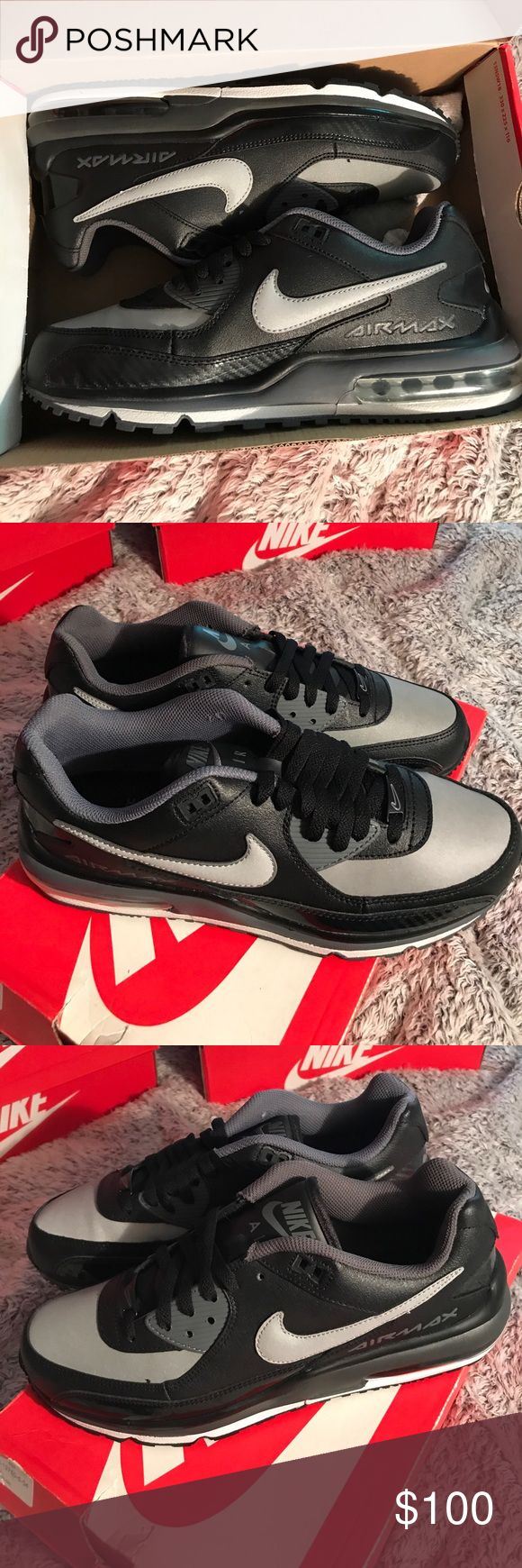 Nike Air Max Wright Brand new, perfect condition, no flaws, size 10.5, black and grey Nike Shoes Sneakers