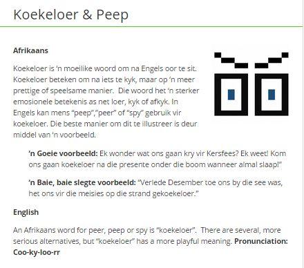 Koekeloer & peep