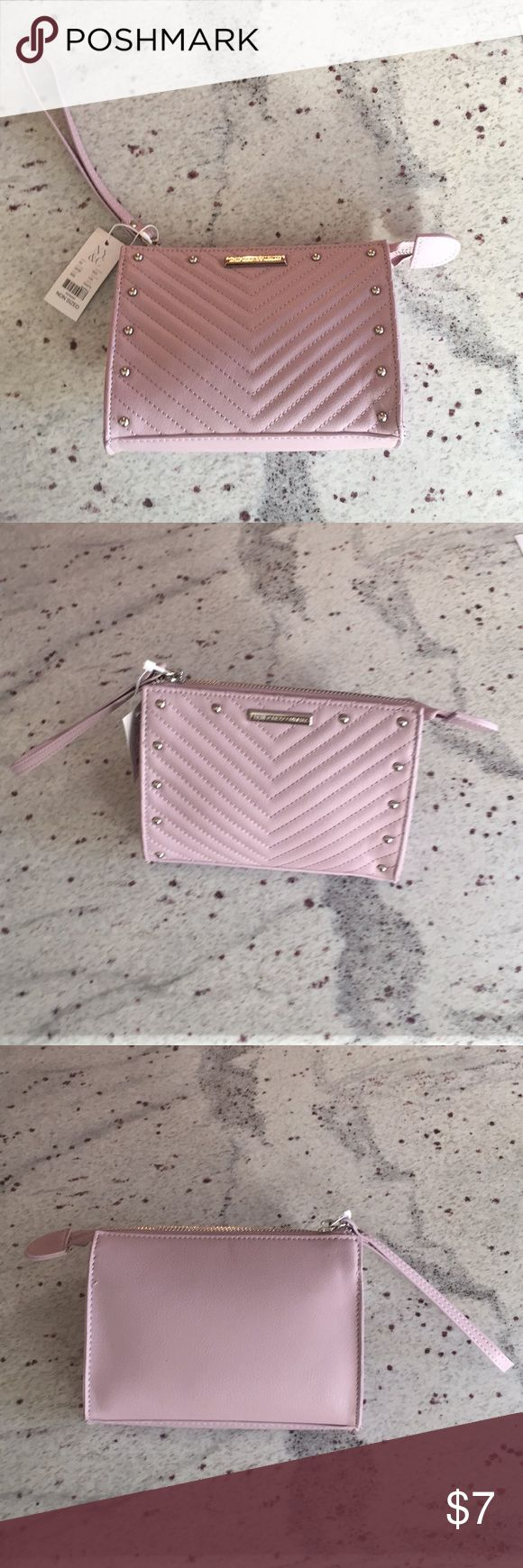 New York and Co. clutch purse New York and Co. lilac clutch purse. NWT. 7 inches long, 5.5 inches tall. Perfect for cell phone, wallet, and keys. Great spring color! New York & Company Bags Clutches & Wristlets