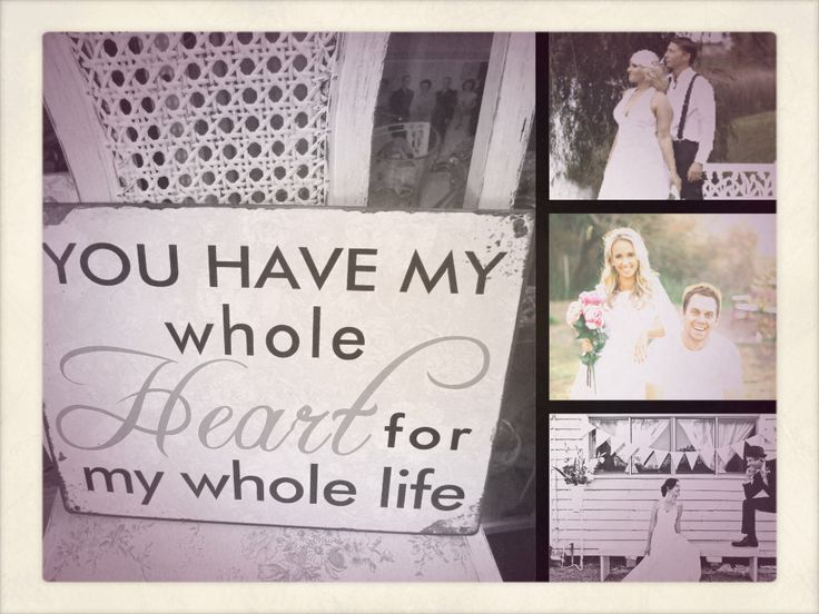 You Have My Whole Heart For my Whole Life Tin Sign www.capeoflove.com