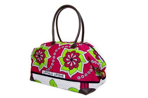 Large Kenyan 'Kanga' Fabric Print Hold All