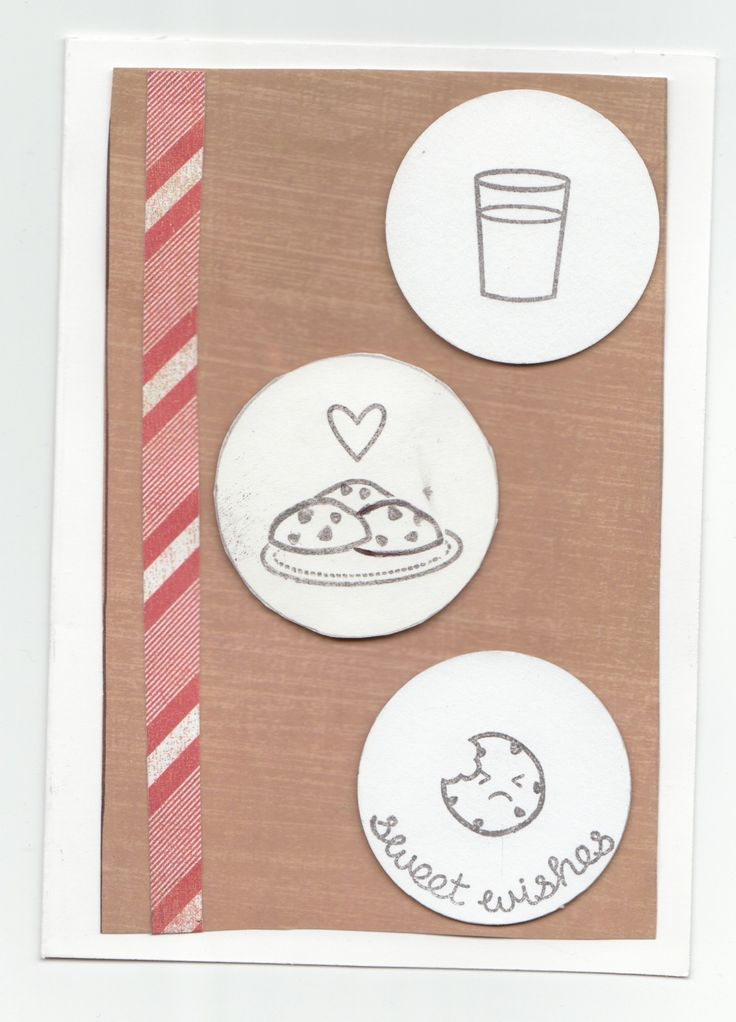 This card was one of the first cards I made with my new stamp set, Milk and Cookies by lawn fawn, and I love the strip of paper that looks like a candy cane on the side.