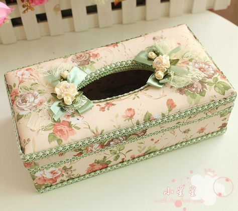Tissue-box-romantic-lace-fabric-tissue-pumping-rustic-at-home-car-tissue-box-f-green-0.jpg (999×889)