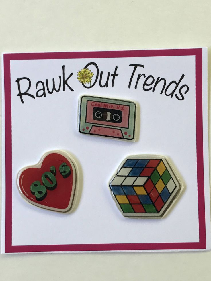 I Love 80's Pin Set, Cassette Tape Pin Set, Rubrics Cube Pins, Pins for Jackets, Lapel Pins, Plastic Pins, Brooch, Tumblr Pins, by RawkOutTrends on Etsy
