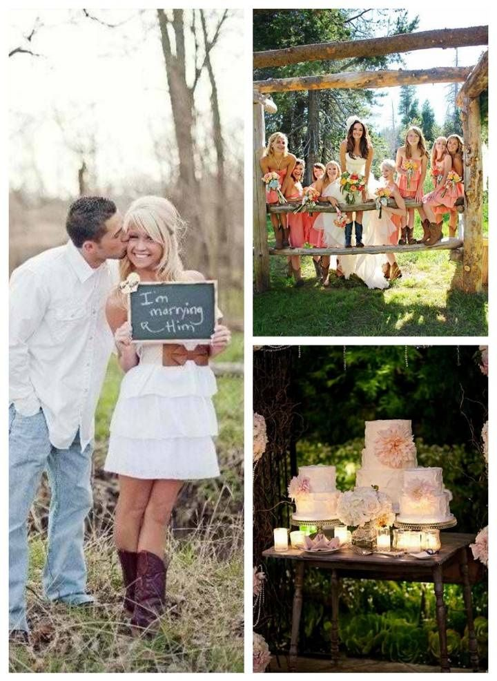 Country Wedding. Cute Chalkboard Idea