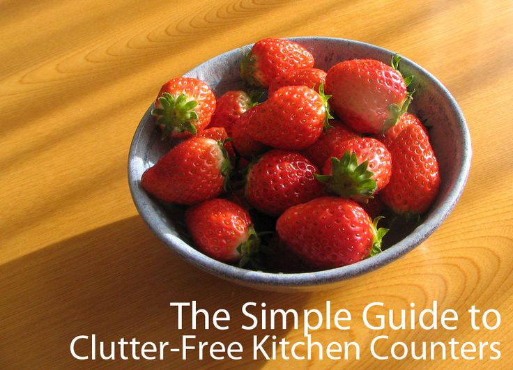 The Simple Guide to a Clutter-Free Kitchen Counter
