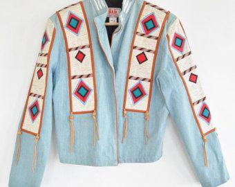 años 50 lana mexicana Lopez bordado chaqueta por Akimbovintagefinds