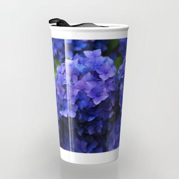 Hortensia Travel Mug by Mixed Imagery | Society6