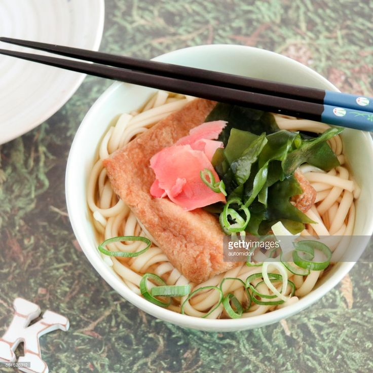 Udon without deep-fried tofu called aburaage, on top, would not be 'Kitsune Udon' because according to a folktale, aburaage is a fox's favorite, and fox in Japanese is 'kitsune'.
