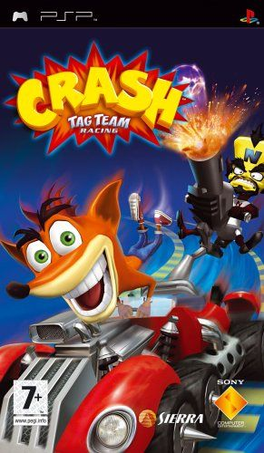 Crash Tag Team Racing (PSP) -  After being humiliated yet again by Crash Bandicoot at the end of Crash Twinsanity Cortex returns to his evil scheming in his dilapidated Iceberg Lair. He stumbles across a newspaper article regarding the closure of Ebeneezer Von Clutchs condemned racing arena. He hatches a sinister plan... - http://unitedkingdom.bestgadgetdeals.net/crash-tag-team-racing-psp/ - http://unitedkingdom.bestgadgetdeals.net/wp-content/uploads/2013/04/bcdec_psp_