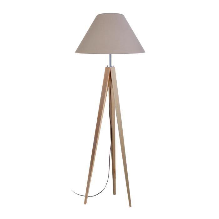 IDUN Trépied de lampadaire en bois massif pour lampadaire