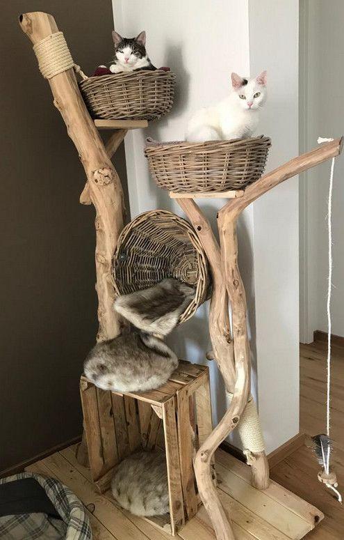 All natural cat tree handmade by Schnurrwerk (Germany)