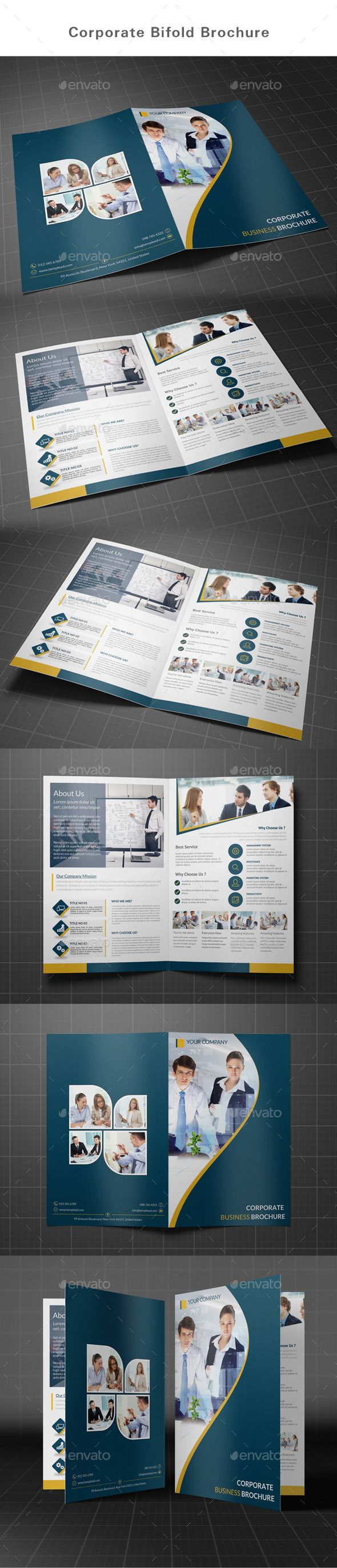 Business Bifold Brochure Tempalte #design Download: http://graphicriver.net/item/bifold-brochure-business/12926348?ref=ksioks