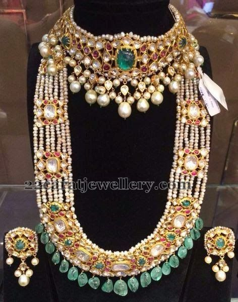 Pearls Mala and Kundan Choker | Jewellery Designs
