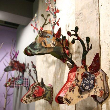 Med ett fantasifullt hjorthuvud från italienska Miho ...