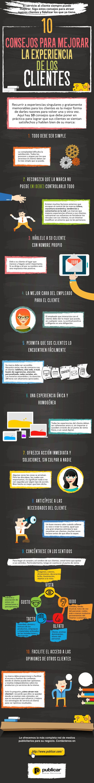 10 consejos para mejorar la experiencia de los clientes #infografia #infographic #marketing