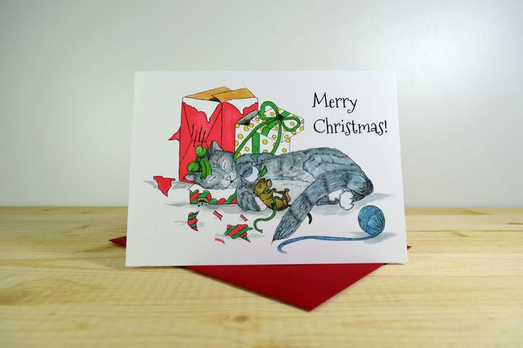 Cat & Mouse Christmas A7 (5x7)