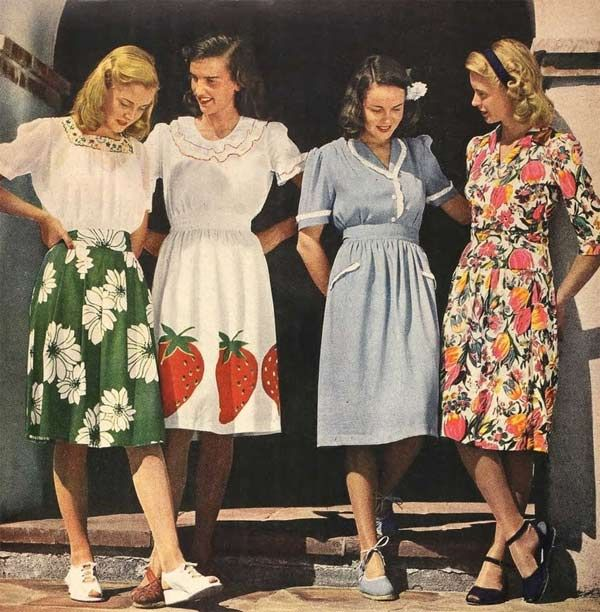 Fashion In The 1940s Clothing Styles Trends Pictures History 40s Pinterest 1940s