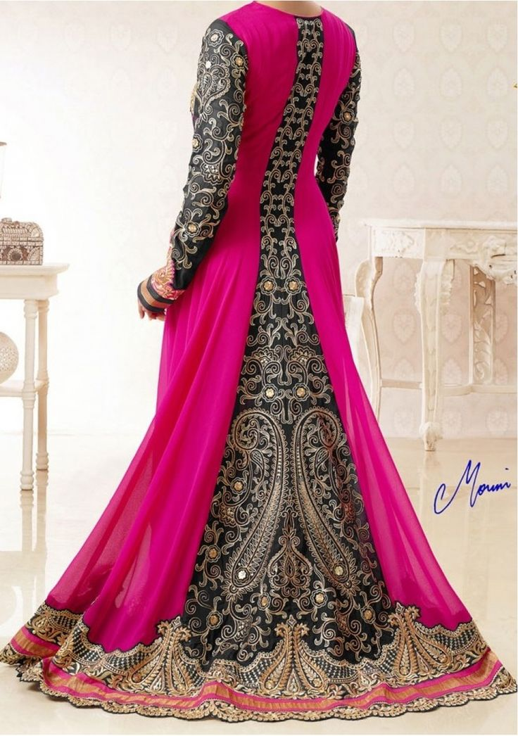 Mouni Roy Jhalak Dikhla Jaa Designer Anarkali Suit Fabric: Pure Georgette, Pure Banarshi Jacquard with Pure Chiffon Dupatta. Work: Heavy Embroidery Work $110.00