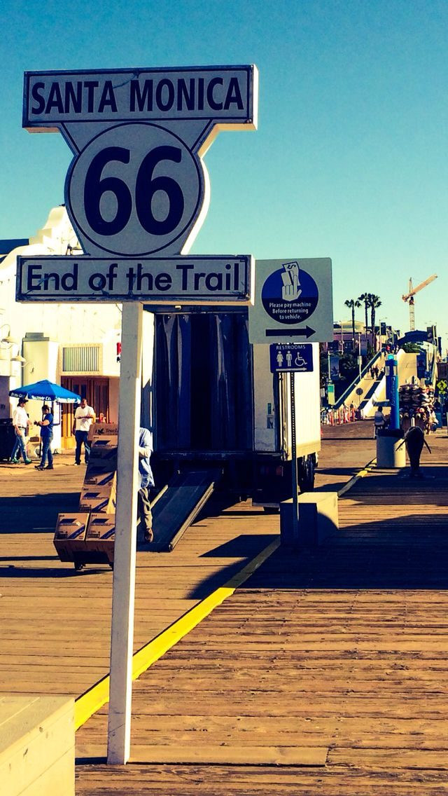 End of route 66. Santa Monica