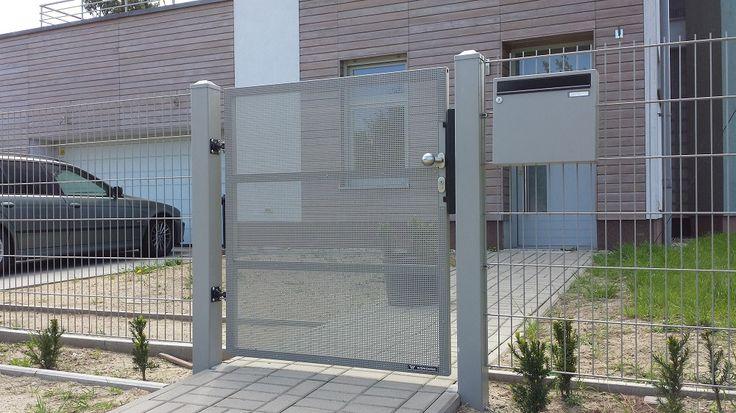 Brama przesuwna Gliwice - brammet.info - Ogrodzenie MODERN