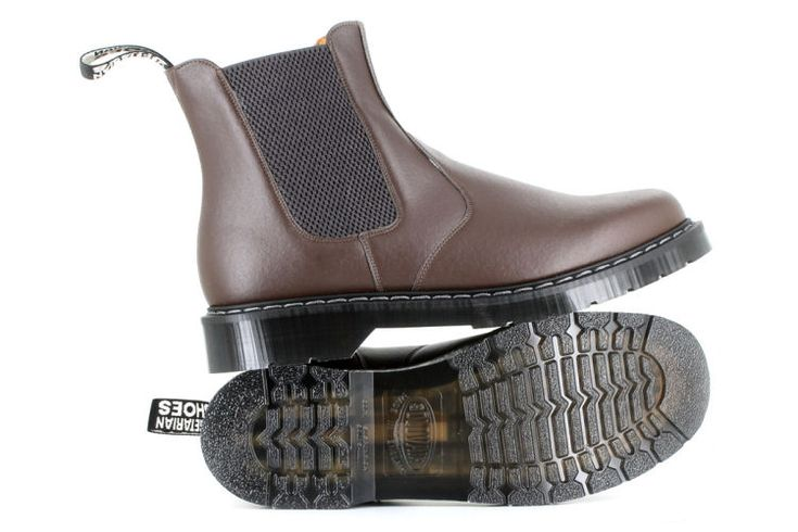 The Airseal Chelsea Boot - Brown by Vegetarian Shoes. Ordering vegetarian shoes online? Vega-Life offers a wide variety of vegan lifestyle products. Low shipping costs and fast delivery!